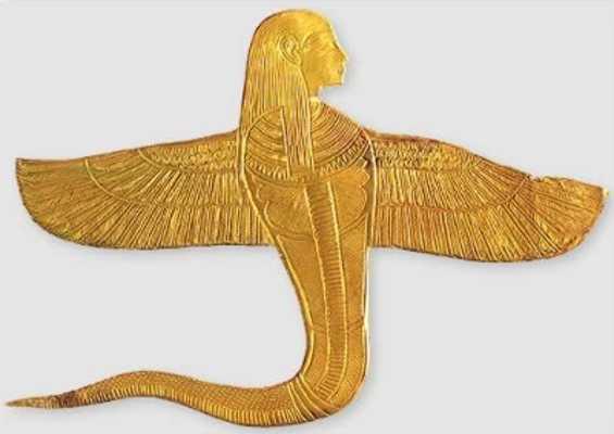 Buto. Human-headed-Winged-Cobra-Tutankhamun-Exhibit