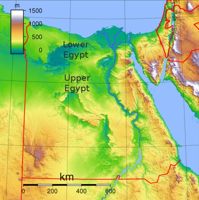 What Is The Race Of The Ancient Egyptians Culture Nigeria - Map of egypt showing upper and lower