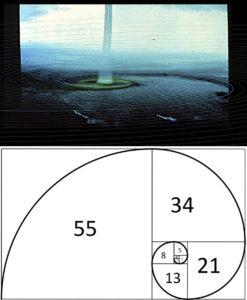spiral fibonacci on tornadic waterspouts