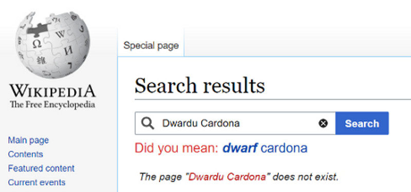 Wikipedia humour algorithm