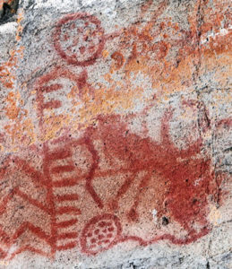 manufacturing ochre for ancient rock petroglyphs