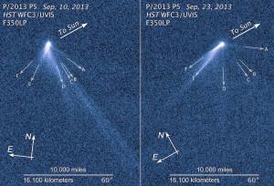 active asteroid comet tail puzzle p2013 p5