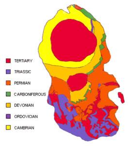 Map Arran geology rock types