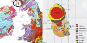 Map Britain isle of arran scotland geology