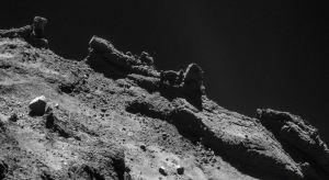 asteroids rocky boulders surface comet 67p churyumov gerasimenko