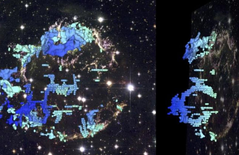 Cassiopeia A plasma bubbles