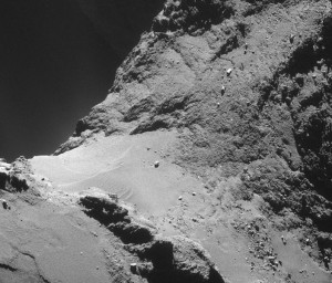 comet 67 p dunes sand rock geomorphology