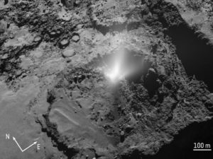 comet 67/P jets