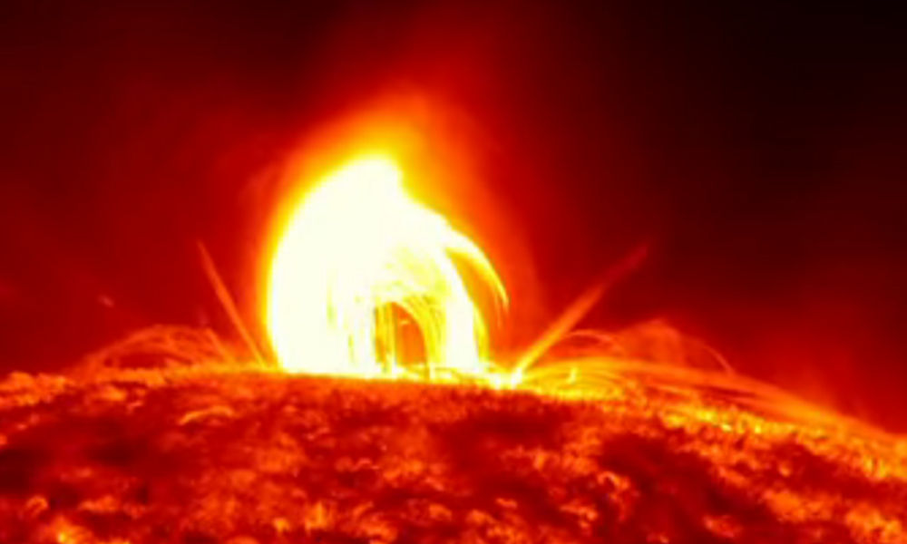 coronal rain sun plasma