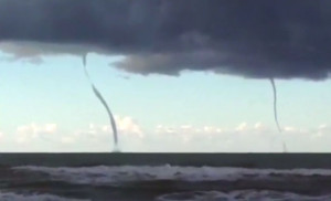 double water spouts electric nature