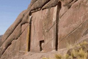 Egyptian temple false door in Peru