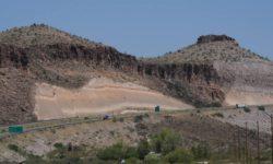 road cut at Kingman Arizona