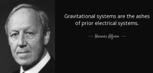 Hannes Alfvén plasma electric universe theory cosmology eu