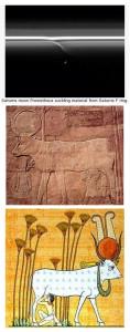 Hathor Egyptian goddess cow suckling