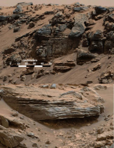 mars bedrock lake water