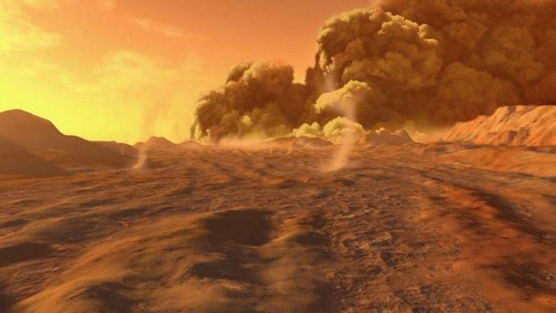 mars methane gas