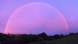 pink rainbow rainbows england