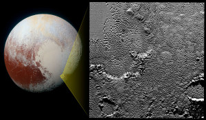 pluto geology ice water triple point flows gases
