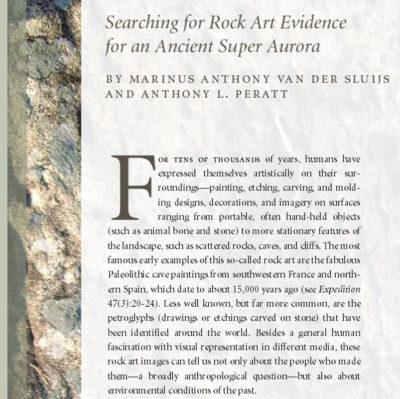Searching for Rock Art Evidence for an Ancient Super Aurora petroglyphs Anthony L Peratt Marinus Anthony van der Sluijs