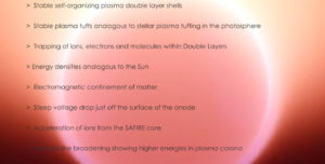 Electric Sun Hypothesis SAFIRE