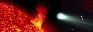 sun grazing comet mystery puzzle grazer surive rock not ice