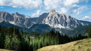 Italy's Dolomite Alps and strata