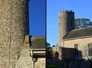 Sassenach Saxon or Norman Church dating of Saint Andrew's Church in Suffolk