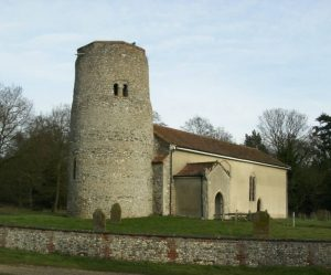 Norman, Anglo-Saxon or East Angles round tower flint churches