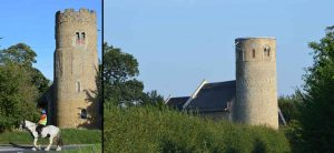 Anglo-Saxon or Norman architecture and round tower churches constructed in stages