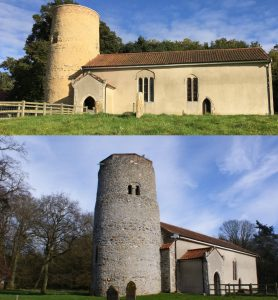 Round tower St Andrew church, East Lexham, Anglo-Saxon