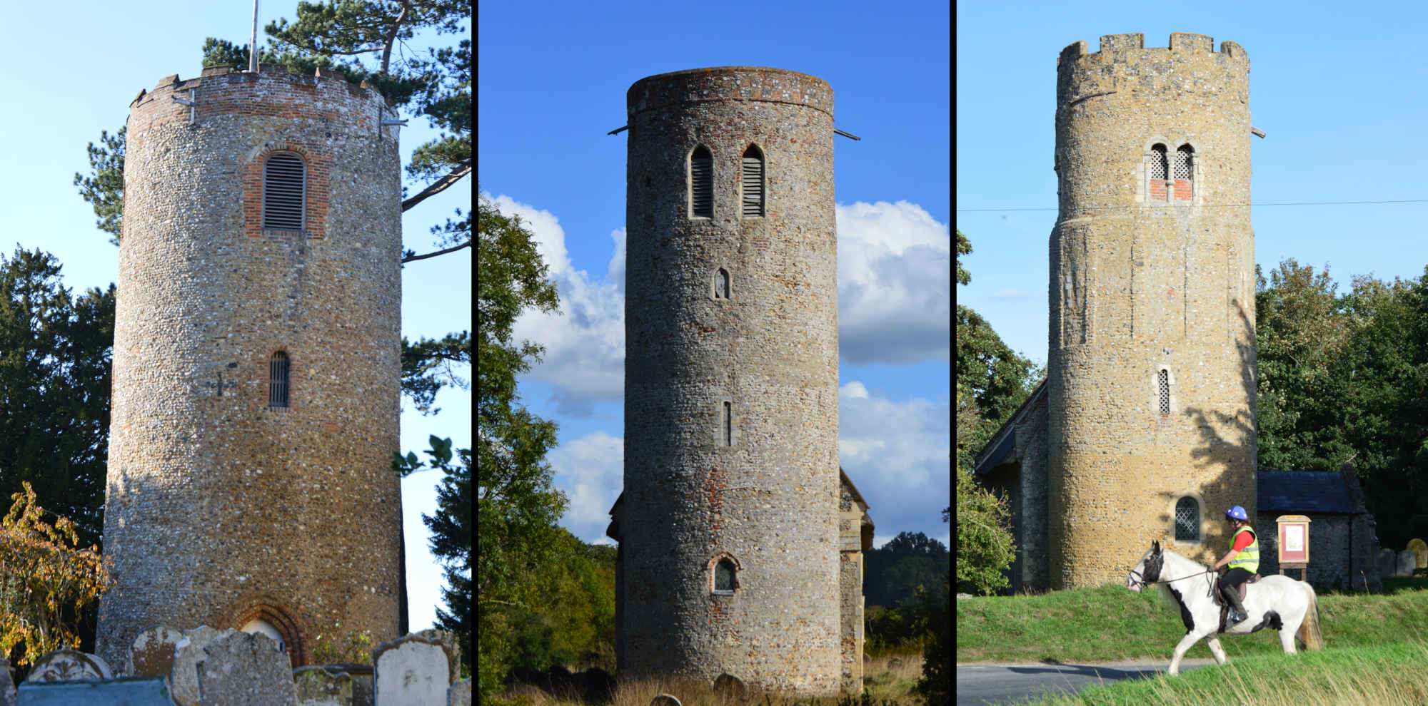 The problem of the Suffolk and Norfolk round towers