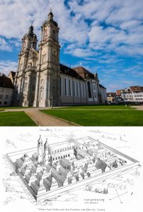 round towers, churches and Monastery of St Gall