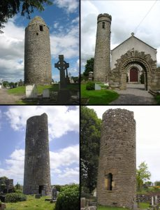 round towers, churches Ireland