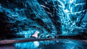 blue ice caves electromagnetic light waves