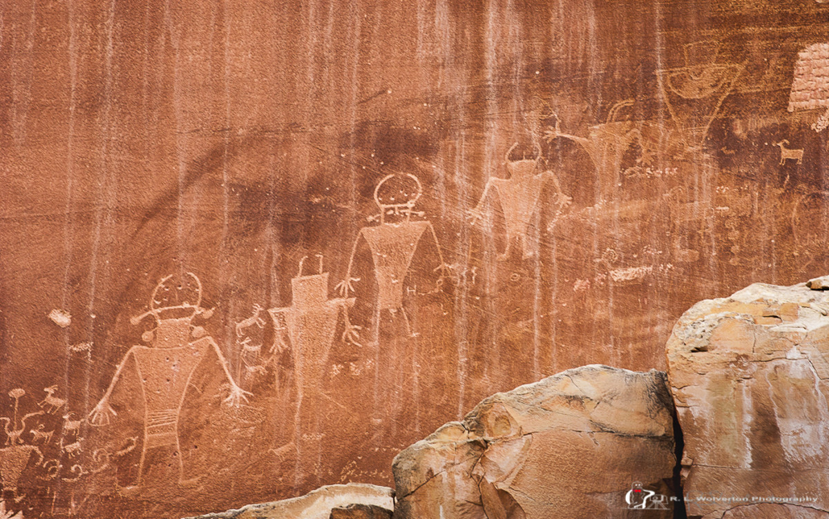 Capitol Reef National Park petroglyphs