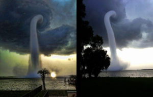 electromagnetic waterspouts