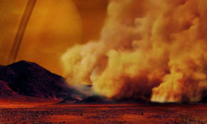 planets dusty plasma dust storms titan mars earth