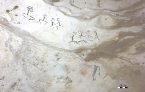 squatter man rock paintings cave borneo