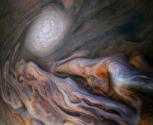 Hexagonal storms Jupiter