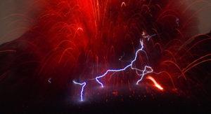 geomagnetic lightning volcano