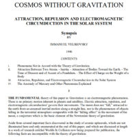 Immanuel Velikovsky Cosmos Without Gravitation