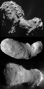 asteroid comet KPO Ultima Thule 67P Itokawa Hartley 2