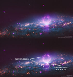 plasma Fermi bubbles galaxy shape