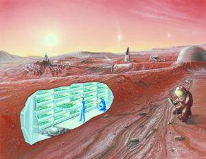 Mars city living
