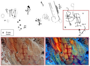 Making ochre for ancient rock art