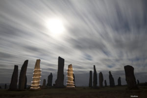 site XI Callanish standing stones lightning