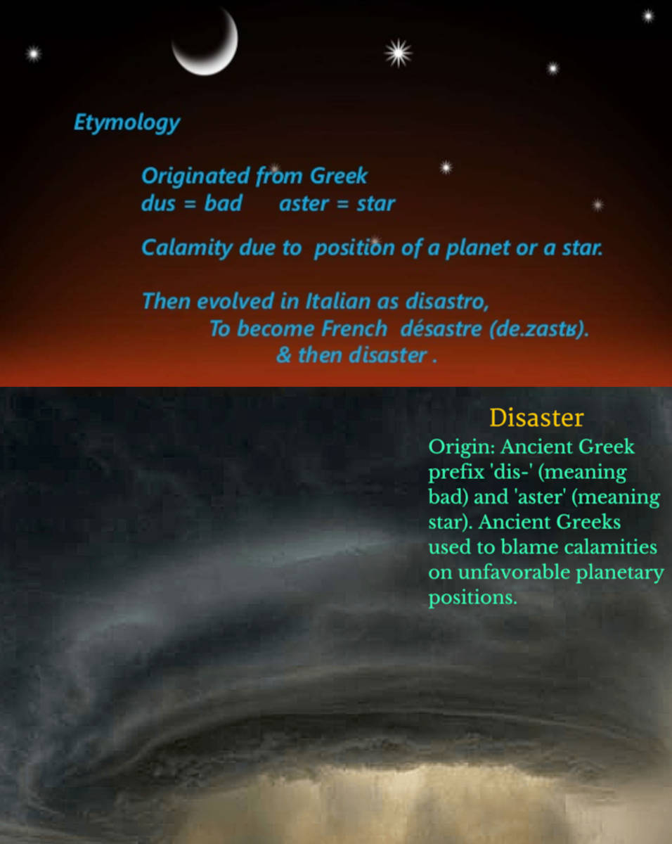 disaster star catastrophe meaning and mars venus planets