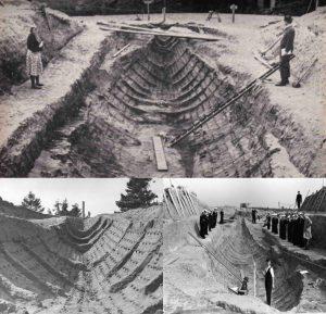 Anglo-Saxon Sutton Hoo treasure ship burial