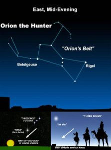 Orions Belt 3 Magi Kings from the East