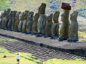 Ancient Electroculture structures buildings statues